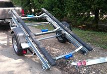 Одноосный легковой прицеп для перевозки гидроциклов, катеров и ПВХ –лодок ССТ-7132-14