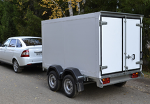 Автомобильный рессорный прицеп - фургон ССТ-7132-17 двухосный