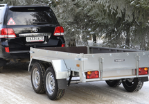 Автомобильный рессорный прицеп ССТ-7132-18 двухосный грузовой прицеп коммерческой серии с бортовой платформой