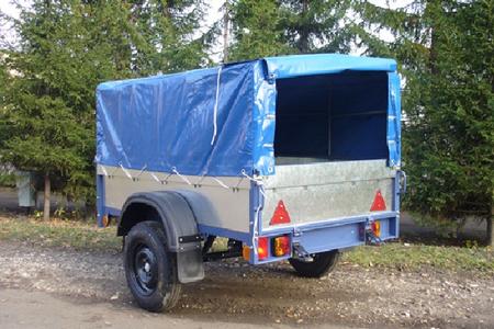 Автомобильный прицеп оцинкованный САЗ-82994-01 с тентом