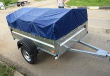Автомобильный прицеп 1,75х1,3 А (на рессоре alko) с тентом