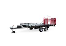 Прицеп Тандем 8213 2Е с увеличенной грузовой платформой на два снегохода, снегоход и квадроцикл, и другие комбинации малогабаритной техники